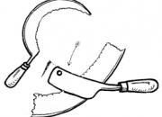 Ilustrácia - Kosák s upraveným ostrím