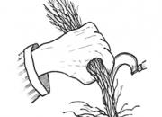 Ilustrácia - Zber špicou kosáka